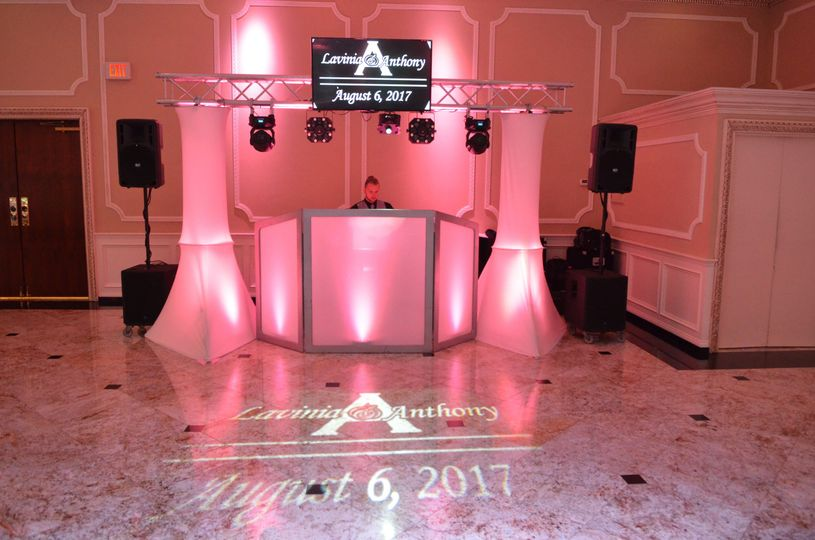 Our Upgraded Wedding Package with Custom Gobo Light & 1 TV