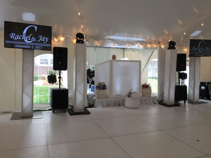 Our Standard Wedding Package with 2 TVs added