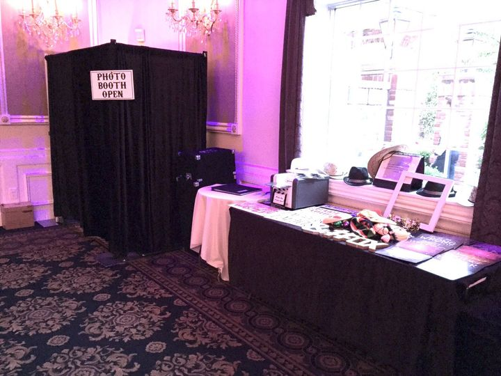 Our Photo Booths Open or Closed with props is always a good time.