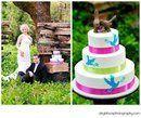 Tmx 1305048361235 DeyalHussphotographybluebirdcake Newberg wedding cake