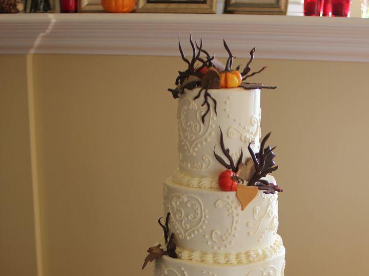 Tmx 1365101497469 Rs   Choc Leaves Pumpkins Newberg wedding cake