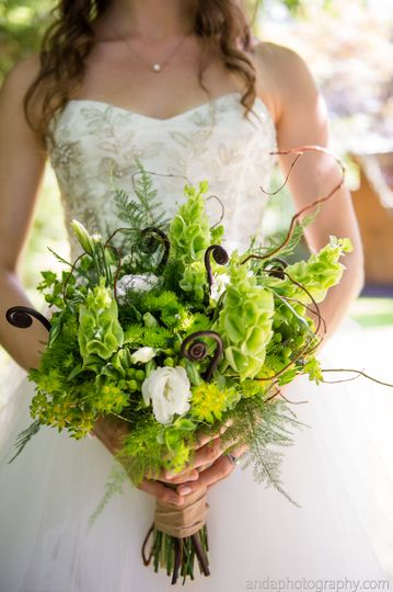 Bridal bouquet in green
