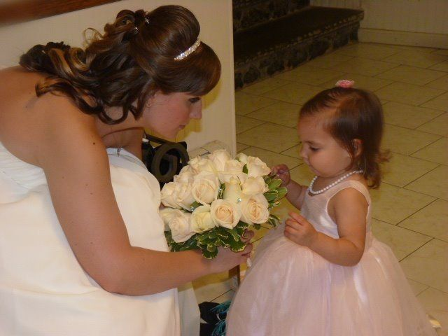 Bride with kid