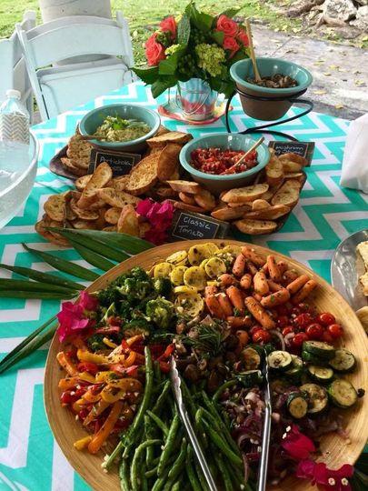 Grilled Vegetables, Bruchetta