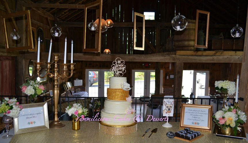 Beautiful cake we made for one amazing couple.