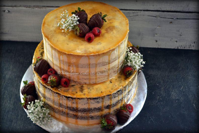 Naked wedding cake 100 % vegan