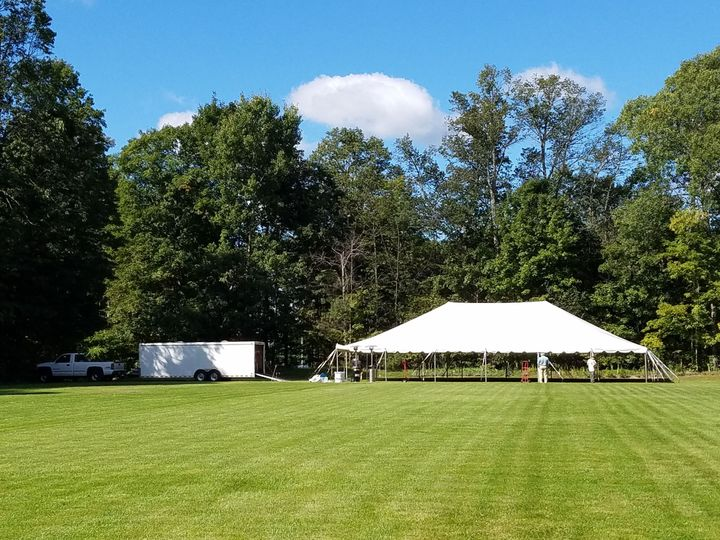 Wedding tent on the upper lawn
