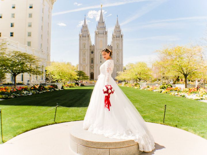 Bride at LDS Temple