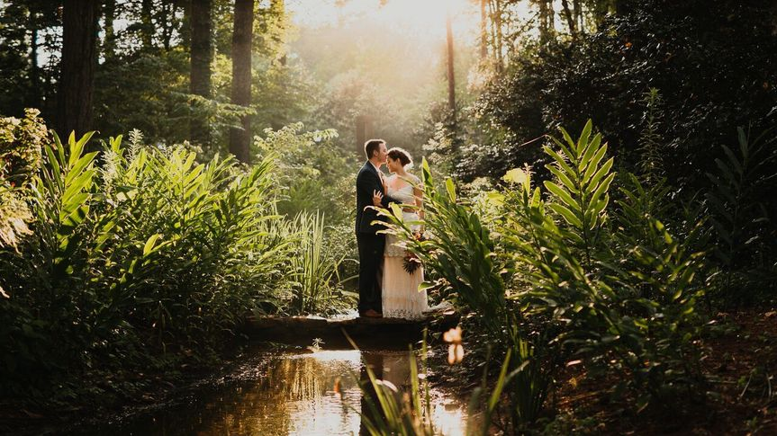 7f3a65b622a9e8d1 Lakeside in the woods bride Ria Drew
