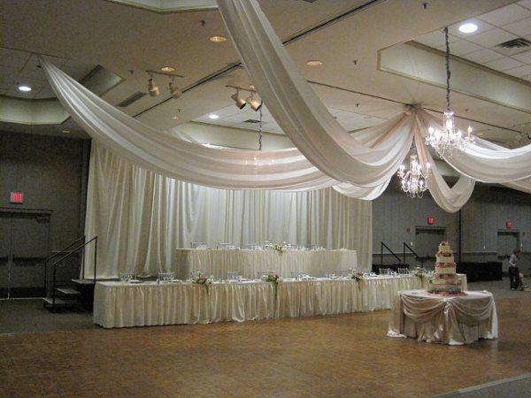 Table setup with the wedding cake already prepared