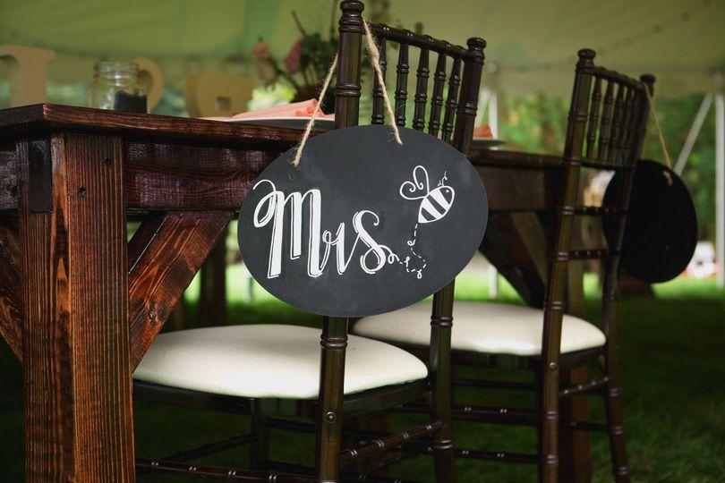 Bride's chair