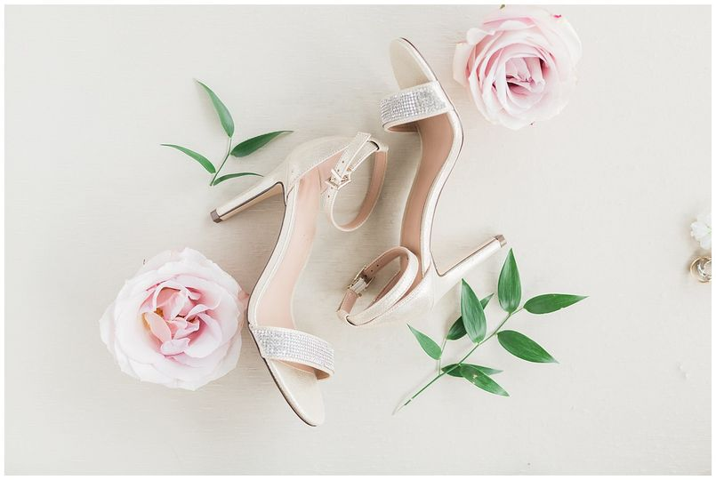 Wedding Shoes with Florals