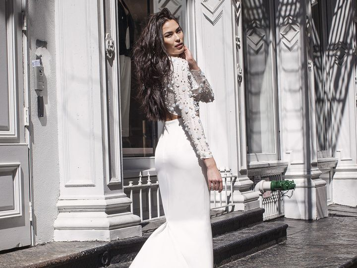 Tmx 1496849709430 Alessandra  Elizabeth Back   Modified Brooklyn wedding dress