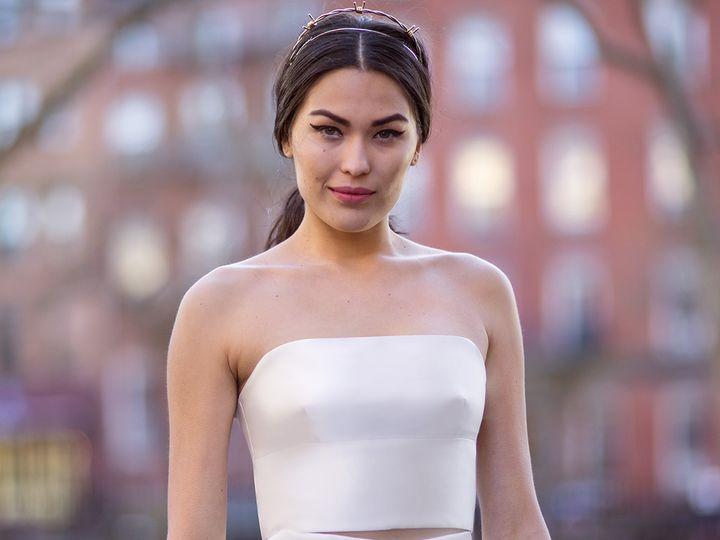 Tmx 1496849810441 Eileen  Amalia Close Up   Modified Brooklyn wedding dress