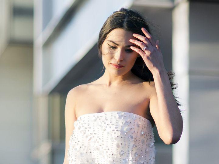 Tmx 1496849950885 Mina Close Up   Modified Brooklyn wedding dress
