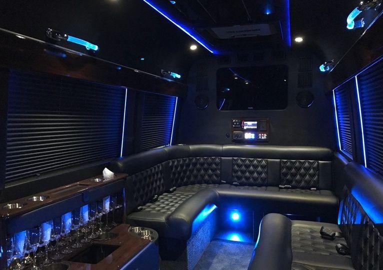 Sprinter Limo bus Interior