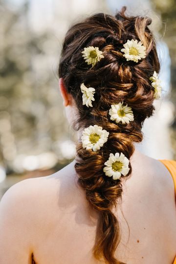 Floral hair Photo by Brionna Rose Photography