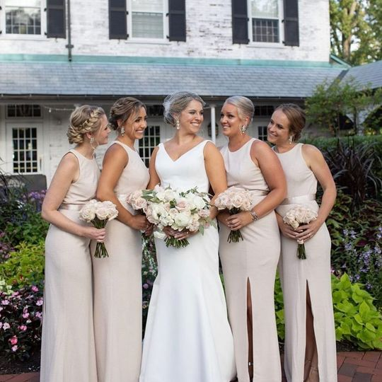 A sophisticated bridal party
