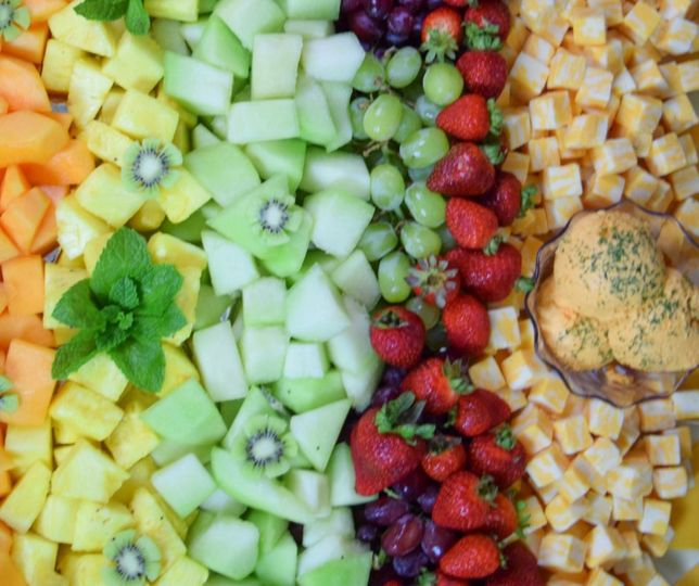 Pretty fruit platting