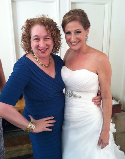 Bride with Rabbi Wendy Spears