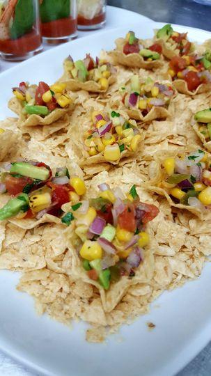 Avacado lime corn salsa