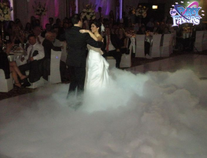 bride groom on clouds