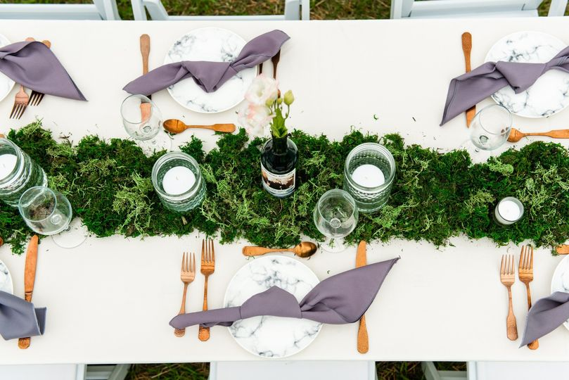 Jewel's moss table runners