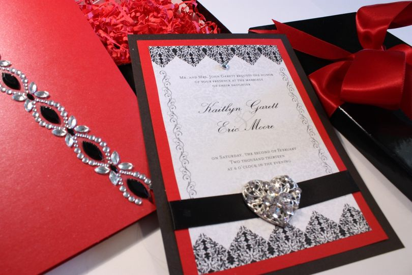 Custom Musical Wedding Invitations - the Brocade Romance can be customized in your choice of colors...