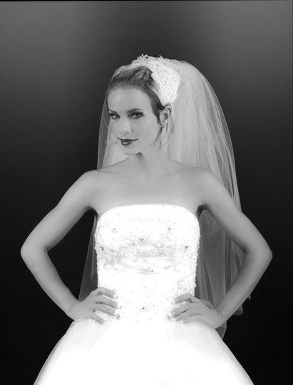 kim wedding bw