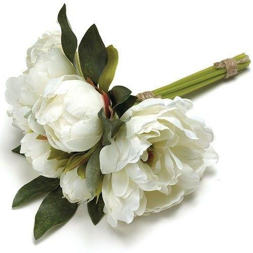 whitebouquets peonie