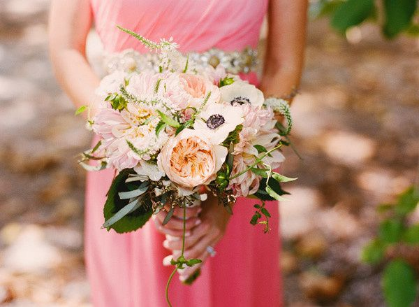 garden rose pink bouquet