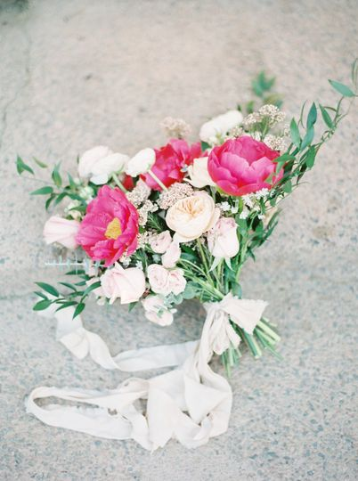 Pink and White Palette Bouquet