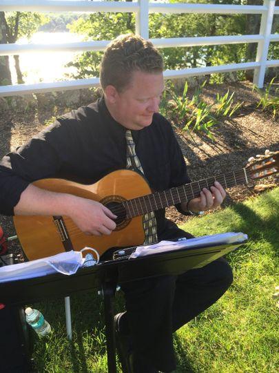 Outdoor wedding in Mass