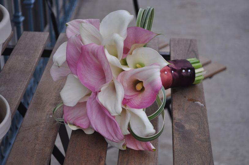 Modern Calla lilly bouquet