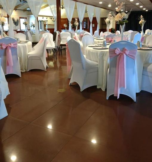 Blue and pink reception theme