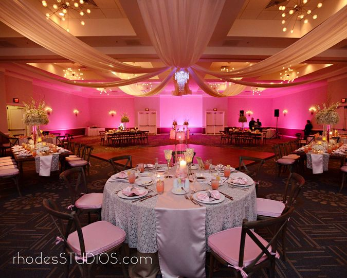 What a gorgeous ballroom, fully set and ready. Our ballroom can create a beautiful setting for your...