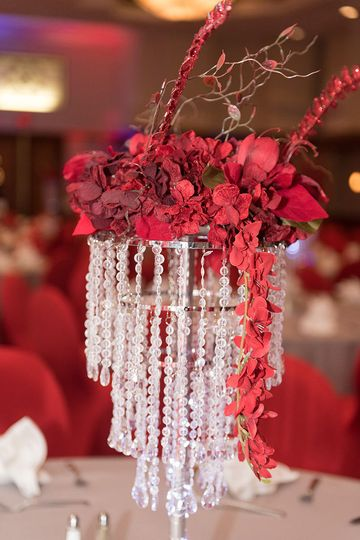 Bling and Crystal centerpieces