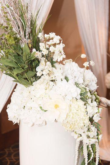 Dramatic floral arrangements.
