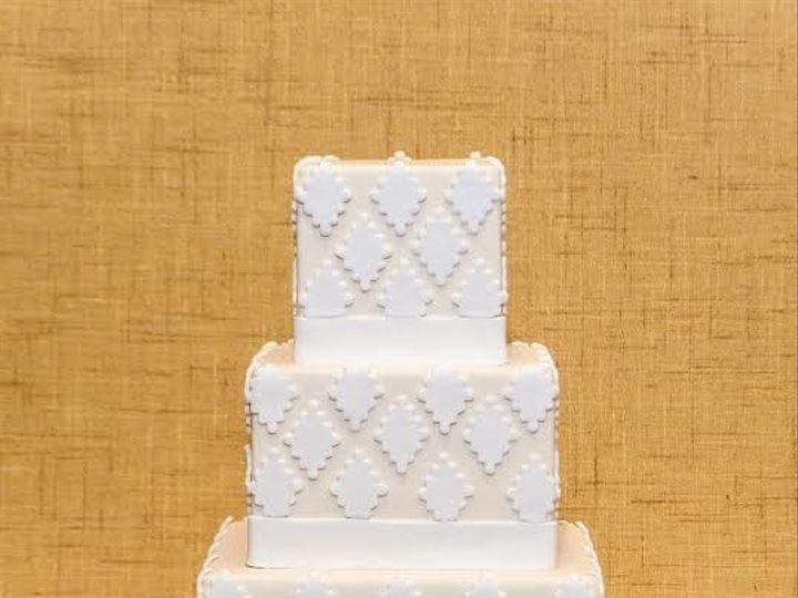 Tmx 1398396066857 Patternedcak Brooklyn wedding cake
