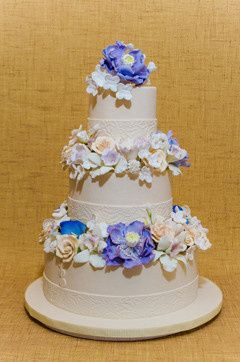 Tmx 1398396141129 Ivorytieredwithflower Brooklyn wedding cake