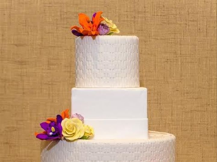 Tmx 1398396153182 Weavesqflowercak Brooklyn wedding cake