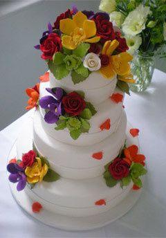 Tmx 1398396255126 Flowercak Brooklyn wedding cake