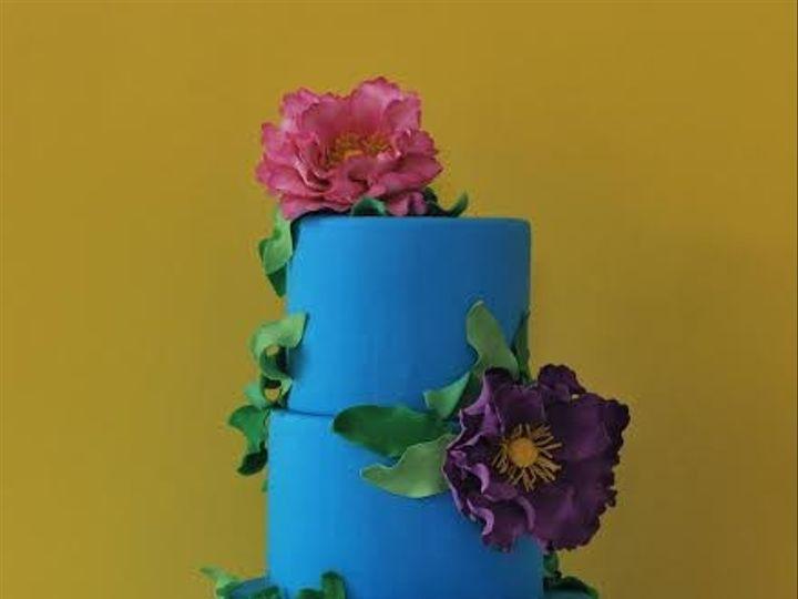 Tmx 1398396569517 Brightbluecak Brooklyn wedding cake
