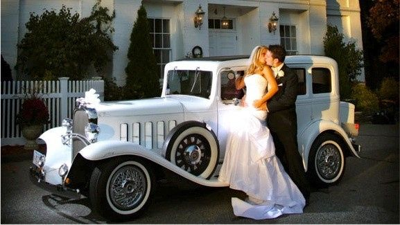 """Our Pride & Joy, the 1932 Oldsmobile """"Princess"""", perfect for bride and groom"""