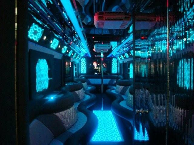 Interior of our 50 Passenger Limo Bus