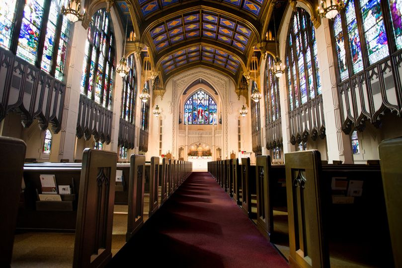 Aisle and pews