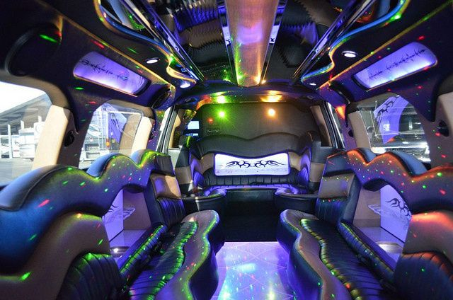 Interior of Denali SUV Limousine