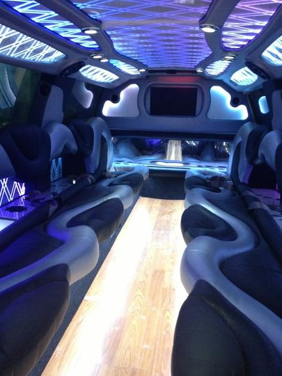 Interior of Escalade SUV Limousine