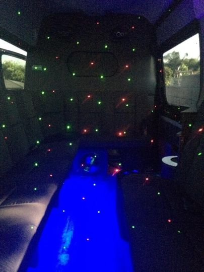 Interior of Mercedes Sprinter Limobus