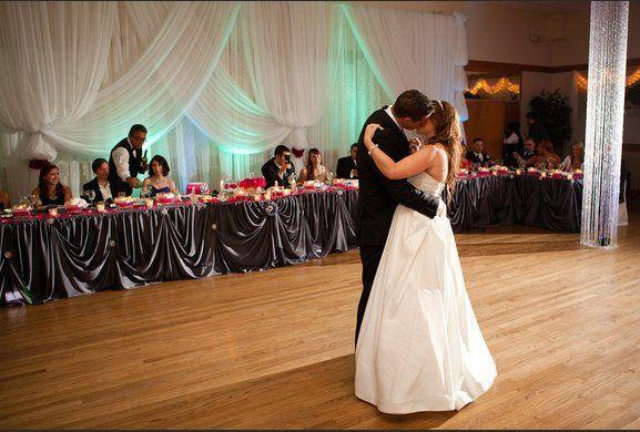 Kiss on the dance floor